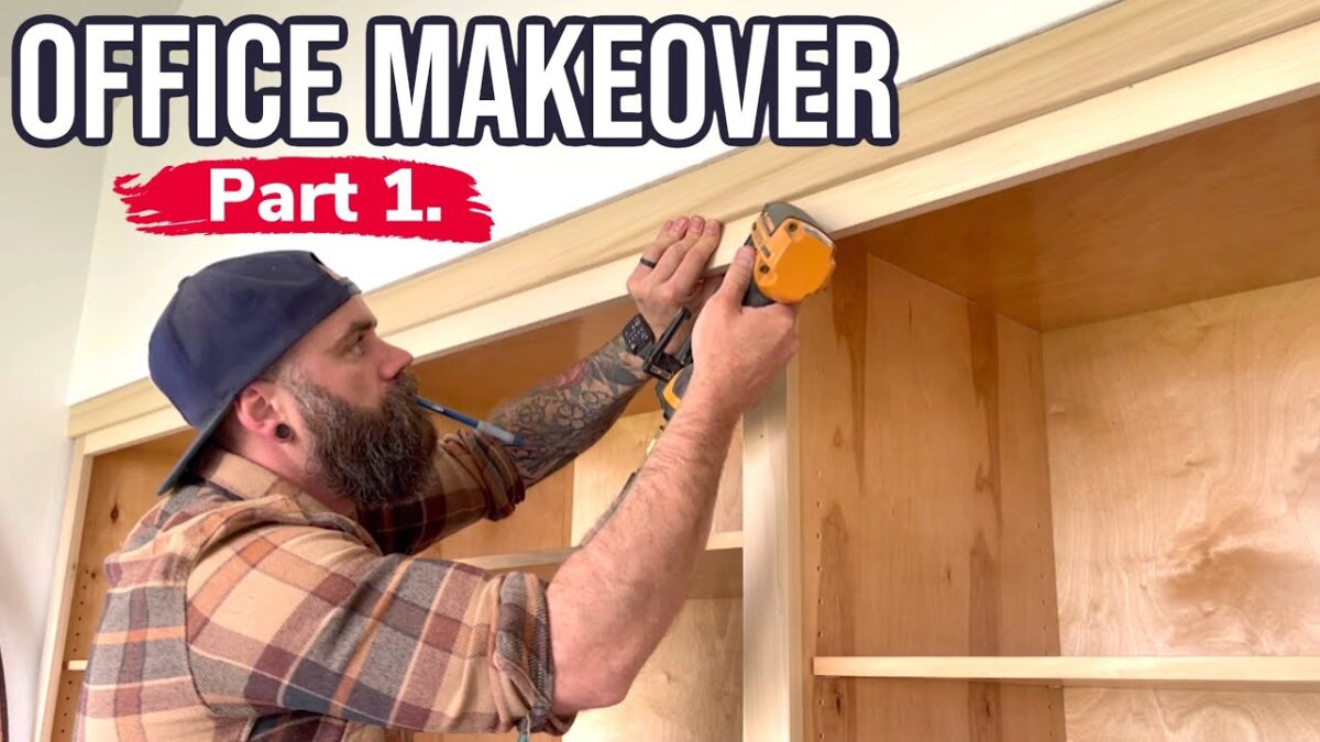 Build Cabinets the Easy Way || Before and After Office Makeover