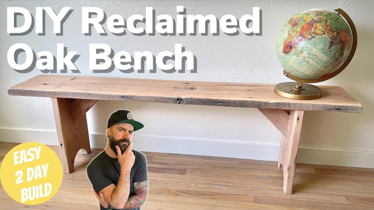 DIY Wood Bench Build || Easy Wood Bench Design