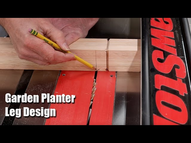 Garden Planter Box Leg Design - How to Make Planter Legs
