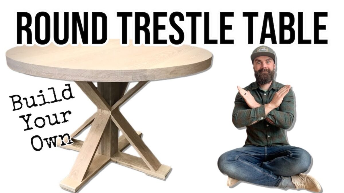 How To Build a Round Trestle Table / DIY Trestle Table