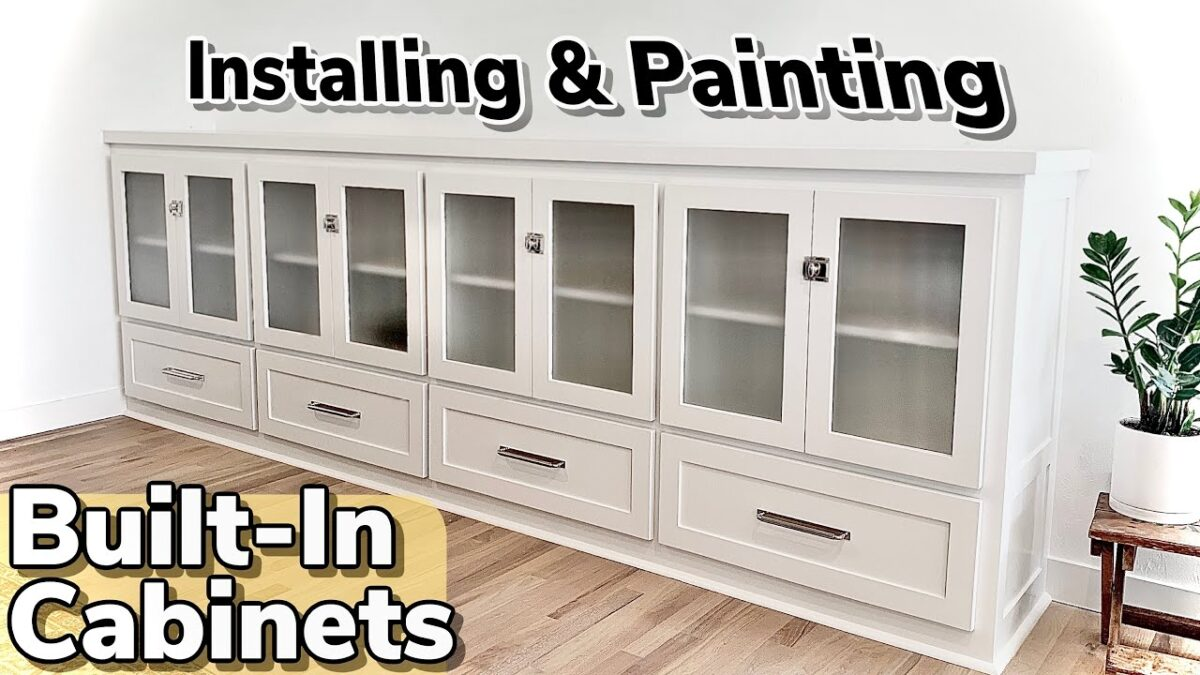 How To make a Giant Built-In Cabinet || Easy Living Room Storage