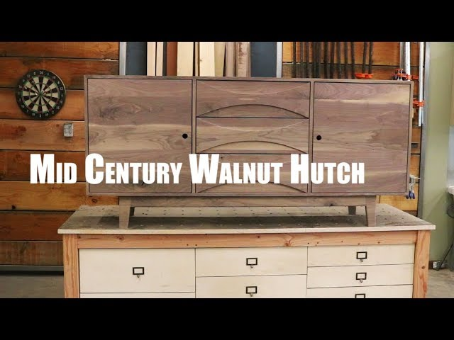 Mid Century Walnut Hutch Build/ How-To